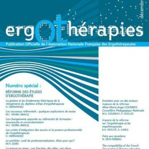 N°40 – Décembre 2010 : Réforme des études en ergothérapie