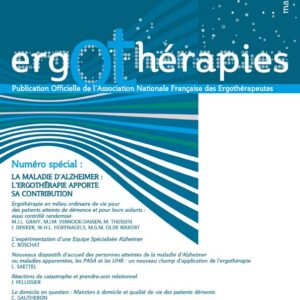 N°41 – Mars 2011 : La maladie d'alzheimer : l'ergothérapie apporte sa contribution