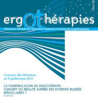 N°42HS – Juin 2011 : La pairémulation en ergothérapie : concept ou réalité auprès des patients blessés médullaires ?
