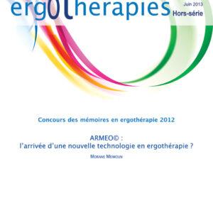 N°50HS –  Juin 2013 : Armeo© : l'arrivée d'une nouvelle technologie en ergothérapie?