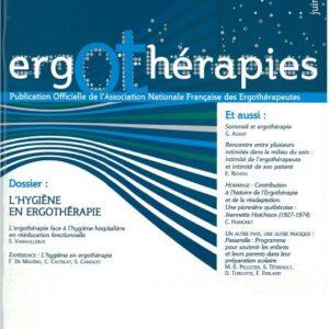 N°30 – Juin 2008 : L'hygiène en ergothérapie