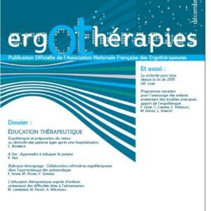 N°36 – Décembre 2009 : Education thérapeutique