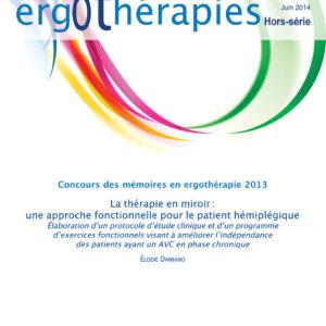 N°54HS – Juin 2014 : La thérapie en miroir : une approche fonctionnelle pour le patient hémiplégique