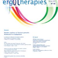 N°56 – Janvier 2015 : Membre supérieur et fonction gestuelle : rééducation et réadaptation