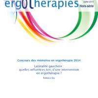 N°58HS – Juillet 2015 : Latéralité gauchère : quelles influences lors d'une intervention en ergothérapie ?