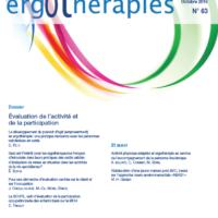 N°63 – Octobre 2016 : Evaluation de l'activité et de la participation