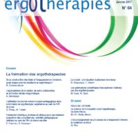 N°64 – Janvier 2017 : La formation des ergothérapeutes