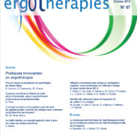 N°67 – Octobre 2017 : Pratiques innovantes en ergothérapie