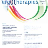 N°75 – Octobre 2019 : Intervention précoce : l'ergothérapie des bébés et des tout petits