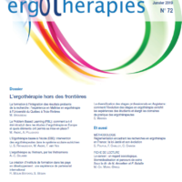 N°72 – Janvier 2019 : L'ergothérapie hors des frontières